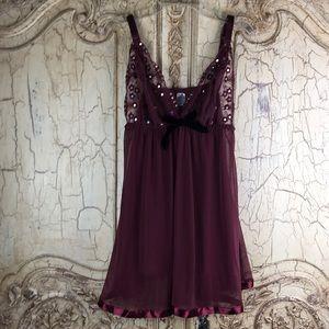 Other - Intimates & Sleepwear Burgundy Sheer Nightie XL